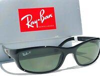 NEW* Ray Ban PREDATOR Black wrap sport w POLARIZED Green Sunglass RB 4115 601/9a