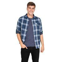 Trespass Shougle Mens Checked Shirt Cotton Long Sleeved Top