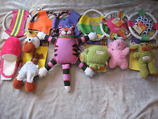 Colorful Rope Frisbee Plush Squeak ASPCA Exercise Play Chew Dog Toys NEW!
