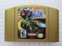 Legend of Zelda Majoras Mask Nintendo 64 N64 Authentic Gold OEM Holo Game GREAT
