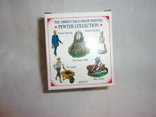 Liberty Falls Hand Painted Pewter People Collection Set Of 5 Figurines Ah223