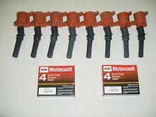 SET OF 8 HEAVY DUTY IGNITION COIL RED DG508 & 8 MOTORCRAFT PLUGS SP479  NEW