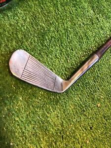 Antique Vintage TOM STEWART 1 Iron LINED Face Long Fat Hosel  Grip Original