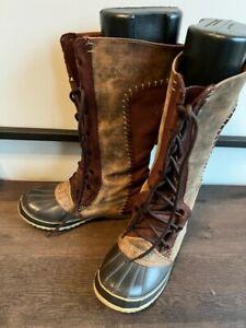 Women Sorel Cate the Great Winter Boots Snow Waterproof NO liner sz 8