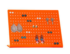 Holds 120 Pairs of Earring Stand Holder Display Slant Back Acrylic Rack Orange