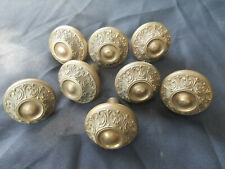 Antique Lot of 8 Matching Solid Brass Victorian Style Door Knobs