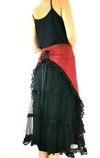 Lip Service Skirt Bustle Gothic Tulle Black Red Midi Steampunk Victoriana XXL