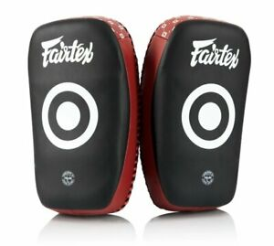 Fairtex Muay Thai Kickboxing Curved Small Lightweight Thai Pads - KPLC6 - Black/