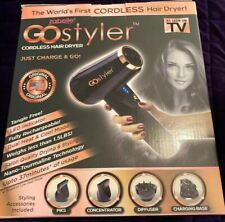 GOStyler Cordless Hair Dryer by Zabelle AS SEEN ON TV Charge & Go Dual Heat Cool