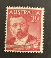 1948 PRE-DECIMAL Von Mueller 2 1/2d Red Australian Stamp MUH C&A WMK