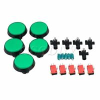 5 x 60mm Green Big Round RED Push Button Switch With 12V Light Lamp Arcade NO/NC