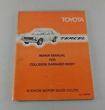 Workshop Manual Toyota Tercel body repair manual Stand 1979