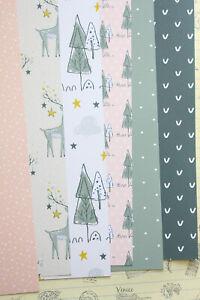 Christmas Animals Card Stock 250gsm cartoon reindeer girl journaling cardstock