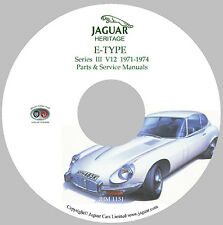 1971 to 1974 Jaguar XKE (S III) E-Type Parts and Service Manuals CD-ROM (Used)