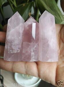 1pcs Natural rock ROSE quartz crystal point healing NEW hot sell 5-7cm 1pcs