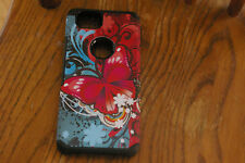 HTC Google Pixel 2 Phone Case Butterfly Bliss Dual Layer Rubberized Design