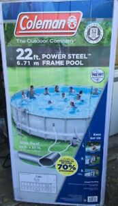 "Coleman Steel Frame 90331 22' x 52"" Above Ground Swimming Pool"