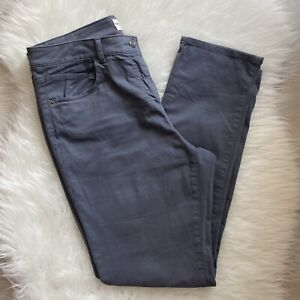 White Stuff Oak Peached Slim Fit Trousers Size 12 Charcoal Grey Soft Pockets