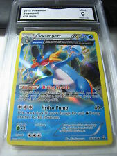 SWAMPERT 2015 POKEMON HOLO # 36/160 GRADED 9 L@@@K