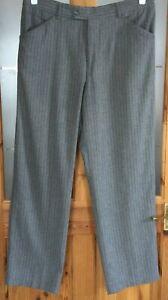 Stromberg Grey Purple Pinstripe Golf Trousers 34W 29L Wool blend Vintage Retro