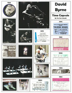 "It's About Rock And Roll: ""David Byrne"" Broadside by Tim Van Schmidt"