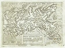1667 Nice Map Kingdom NEAPLES Marchetti Ortelius Campania Calabria Italia Napoli