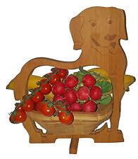 Chien Dog Coquille Panier Pliant 30x30cm Corbeille de Fruits Bois dessous