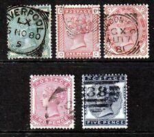 SG164-169 1880-81 Set(628)