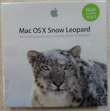 New Sealed Apple Mac OS X Snow Leopard 10.6.3 New Old Stock- Pkg Indents