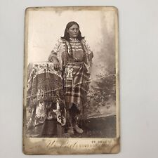 Antique Kiowa Squaw Res Woman in Traditional Dress Bretz Cabinet Photo Ft. Sill