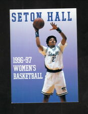 Seton Hall Pirates--1996-97 Basketball Pocket Schedule