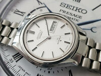 NICE & RARE VINTAGE SEIKO LM LORD MATIC 5606-7071 AUTOMATIC SILVER DIAL GENTS.