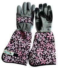 Hanson's Garden-Ladies' Padded Gauntlet Gardening Gloves  - Pink .  .