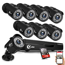8Ch 1080P Hdmi Dvr 2Mp Outdoor Night Vision Cctv Home Security Camera System 1Tb