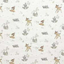 100% Cotton Digital Fabric Bambi and Thumper Disney Classic Floral Flower