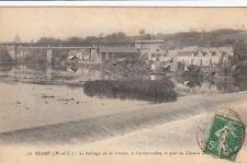 SEGRE 16 le barrage de la rivière à l'arrière-plan pont du chemin 1921