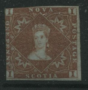 Nova Scotia 1853 1d red brown mint o.g. hinged