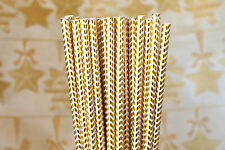 High Quality 25 Gold Foil Chevron Straws birthday party weddings baby shower