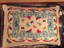 Versace Pillow/Cushion White Butterfly's  Unused with Original Tag