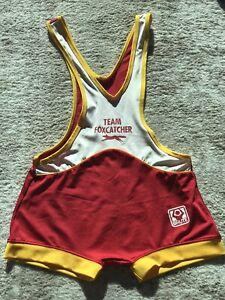 Team Foxcatcher Brute Vintage Red Wrestling Singlet Medium Size RARE