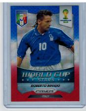 2014 Panini Prizm World Cup Stars Roberto Baggio Blue White Red Wave Prizm Italy