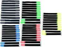 50 Kabelklettbänder 200 x 20 mm in 5 Farben Kabelklett Klettband Kabelbinder Öse