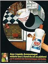 PUBLICITE  1969   AJAX  liquide amoniaqué produits d'entretien