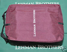 LEHMAN BROTHERS ~ SHOE BAG ~ WATER RESISTANT ~ RARE GOLFER COLLECTABLE ~ NEW!!