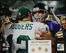 Aaron Rodgers Brett Farve Classic NFL Authentic 8X10 Glossy Photo Packers