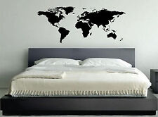 WALL STICKERS ADESIVI MURALI WORLD MAP CARTINA MAPPA MONDO ADESIVO PARETE CASA
