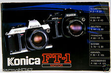KONICA FT1 MOTOR INSTRUCTION MANUAL!! GOOD CONDITION!!