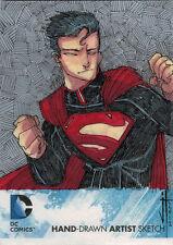 DC Comics New 52 Sketch Card by Jeremy Treece of Superboy