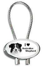 Australian Shepherd Schlüsselanhänger Hund als Fotogravur + gratis Textgravur