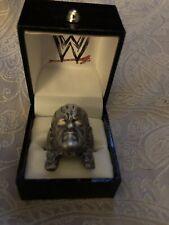 WWF WWE Men's Licensed Stainless Steel Undertaker Ring Jewellery